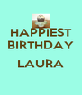 HAPPIEST BIRTHDAY  LAURA  - Personalised Poster A4 size
