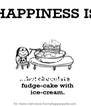 HAPPINESS IS  ..... Hot chocolate fudge- cake with ice cream - Personalised Poster A4 size