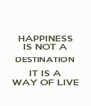 HAPPINESS IS NOT A DESTINATION IT IS A WAY OF LIVE - Personalised Poster A4 size