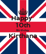 Happy  10th Birthday Kirthana  - Personalised Poster A4 size