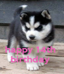 happy 14th  birthday  - Personalised Poster A4 size