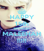 HAPPY 15th BIRTHDAY MALEEHAH !!!!! - Personalised Poster A4 size