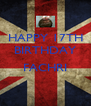 HAPPY 17TH BIRTHDAY  FACHRI  - Personalised Poster A4 size