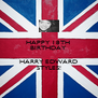 HAPPY 18TH  BIRTHDAY  HARRY EDWARD STYLES! - Personalised Poster A4 size