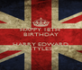 HAPPY 18TH  BIRTHDAY  HARRY EDWARD STYLES - Personalised Poster A4 size