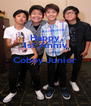 Happy 1st Anniv Coboy Junior   - Personalised Poster A4 size