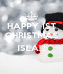 HAPPY 1ST CHRISTMAS  ISLA!!!  - Personalised Poster A4 size