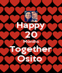 Happy 20 Months Together Osito  - Personalised Poster A4 size