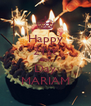 Happy 21st Birth Day MARIAM - Personalised Poster A4 size