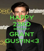 HAPPY 23RD BIRTHDAY GRANT GUSTIN<3 - Personalised Poster A4 size