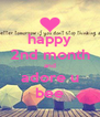 happy 2nd month and adore u bee - Personalised Poster A4 size