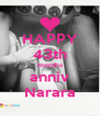 HAPPY 43th months anniv Narara - Personalised Poster A4 size
