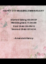 HAPPY 5TH WEDDING ANNIVERSARY 