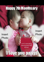 Happy 7th Monthsary I love you pangs - Personalised Poster A4 size