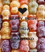 HAPPY 80TH  BIRTHDAY  GRANDAD - Personalised Poster A4 size