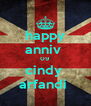 happy anniv  09 cindy  arfandi  - Personalised Poster A4 size