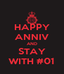 HAPPY ANNIV AND STAY WITH #01 - Personalised Poster A4 size