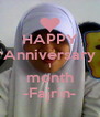 HAPPY Anniversary 1 month -Fajrin- - Personalised Poster A4 size