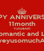 HAPPY ANNIVERSARY 11month Yulita&Adil Keep Romantic and Longlast LoveyusomuchAdil - Personalised Poster A4 size