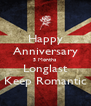 Happy Anniversary 5 Months Longlast Keep Romantic - Personalised Poster A4 size