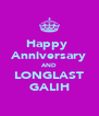 Happy  Anniversary AND LONGLAST GALIH - Personalised Poster A4 size
