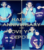 HAPPY  ANNIVERSARY AND LOVE YOU DEPOT:* - Personalised Poster A4 size