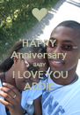 HAPPY Anniversary  BABY I LOVE YOU ADDIE  - Personalised Poster A4 size