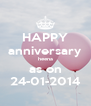 HAPPY anniversary heena as on 24-01-2014 - Personalised Poster A4 size