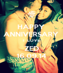 HAPPY ANNIVERSARY I  LOVE ZED 16.09.14 - Personalised Poster A4 size