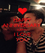HAPPY ANNIVERSARY  JUSTIN I LOVE YOU - Personalised Poster A4 size