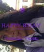 HAPPY B'DAY  For My Best Friend  Natasha Veren  - Personalised Poster A4 size