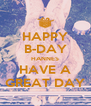 HAPPY B-DAY HANNES HAVE A GREAT DAY - Personalised Poster A4 size