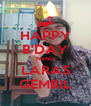 HAPPY B'DAY NENG LARAS GEMBIL - Personalised Poster A4 size