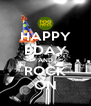 HAPPY BDAY AND ROCK ON - Personalised Poster A4 size