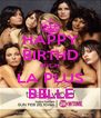HAPPY BIRTHD MICH LA PLUS BELLE - Personalised Poster A4 size