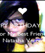 HAPPY BIRTHDAY 13th   For My Best Friend, Natasha Veren - Personalised Poster A4 size