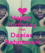Happy  Birthday 16th Daniar  Rahmasari - Personalised Poster A4 size