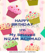 HAPPY BIRTHDAY 17th My Beloved NIZAM ACHMAD - Personalised Poster A4 size