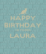 HAPPY BIRTHDAY 18 YEARS LAURA  - Personalised Poster A4 size