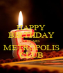HAPPY BIRTHDAY 5 YEARS METROPOLIS CLUB - Personalised Poster A4 size
