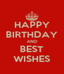 HAPPY BIRTHDAY AND BEST WISHES - Personalised Poster A4 size