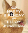 HAPPY BIRTHDAY AND ENJOY JONATHAN - Personalised Poster A4 size