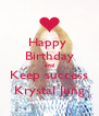 Happy  Birthday and Keep success Krystal Jung - Personalised Poster A4 size