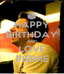 HAPPY BIRTHDAY AND LOVE PIERRE - Personalised Poster A4 size