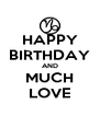 HAPPY BIRTHDAY AND MUCH LOVE - Personalised Poster A4 size
