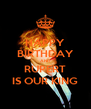 HAPPY BIRTHDAY AND RUPERT IS OUR KING - Personalised Poster A4 size
