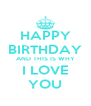 HAPPY BIRTHDAY AND THIS IS WHY I LOVE YOU - Personalised Poster A4 size