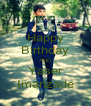Happy Birthday AND Yaser Imanzade - Personalised Poster A4 size