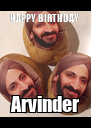 HAPPY BIRTHDAY  Arvinder - Personalised Poster A4 size