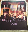 Happy Birthday Ash - Personalised Poster A4 size